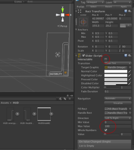 Modify values marked in red to match the values in figure. Modify the slider object to look good.